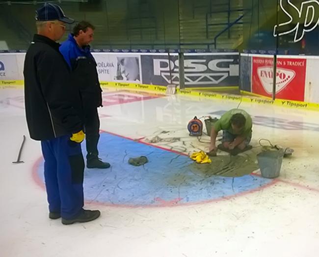 Zimní stadion Luďka Čajky postihla havárie chladicího zařízení